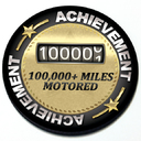 Achievement 100,000 Miles Motored - Grill Badge