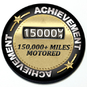 Achievement 150,000 Miles Motored - Grill Badge