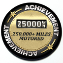 Achievement 250,000 Miles Motored - Grill Badge