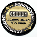 Achievement 50,000 Miles Motored - Grill Badge