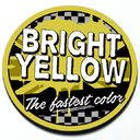 Bright Yellow - Grill Badge