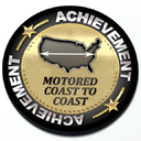 Achievement Motored Coast to Coast - Grill Badge