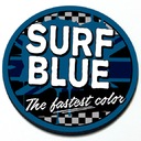 Surf Blue - Grill Badge