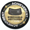 Achievement Windshield Destroyer - Grill Badge