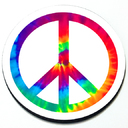 Peace Sign Magnetic Grill Badge Circular Magnet for MINI Cooper