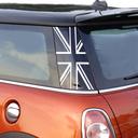 Pillar Decals (R56) Black Jack Rear - 2nd Generation Hardtop MINI Cooper - Set of 2