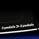 3 pedals are greater than 2 pedals - Vinyl Decal
