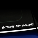 Batteries Not Included Decal