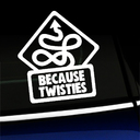 Because Twisties - Decal