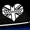 Black Jack Heart Decal