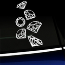 Diamonds Gems Set Decal