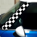 Pillar Decals (R50, R52, R53) Checkered Front - 1st Generation Hardtop MINI Cooper - Set of 2