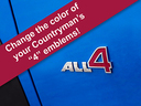 All 4 Emblem Decals for MINI Cooper Countryman, Paceman, and Clubman