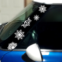 Pillar Decals (R50, R52, R53) Snowflakes Front - 1st Generation Hardtop MINI Cooper - Set of 2