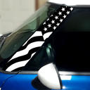 Pillar Decals (R50, R52, R53) US Flag Front - 1st Generation Hardtop MINI Cooper - Set of 2