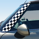 Pillar Decals (R56, R57, R55) Checkers Front - 2nd Generation Hardtop MINI Cooper - Set of 2