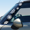 Pillar Decals (R56, R57, R55) Snowflakes Front - 2nd Generation Hardtop MINI Cooper - Set of 2
