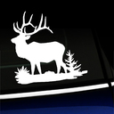 Bull Elk Full Body - Vinyl Decal