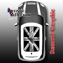 Black Jack Sunroof Graphic for MINI Cooper R50, R53, R56, R55, R60, R61, F56