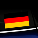 German Flag - Full Color Sticker