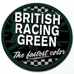 British Racing Green - Grill Badge