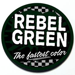 Rebel Green - Grill Badge