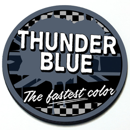 Thunder Blue - Grill Badge