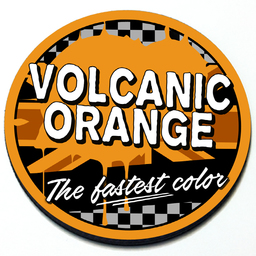 Volcanic Orange - Grill Badge