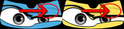 This is an image showing the area of the Eyeshade graphic changed using your choice of eyelid color.