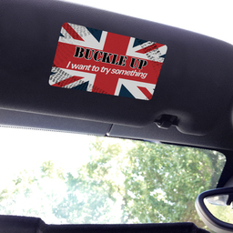 Visor sticker Set - Small - Buckle Up I Want to Try Something