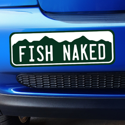 Colorado Fish Naked Sticker