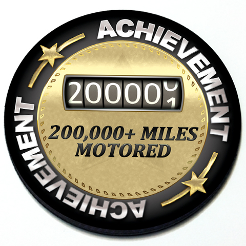 Achievement 200,000 Miles Motored - Grill Badge Product Page