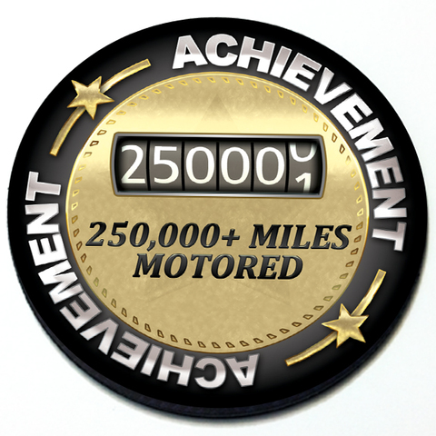 Achievement 250,000 Miles Motored - Grill Badge Product Page