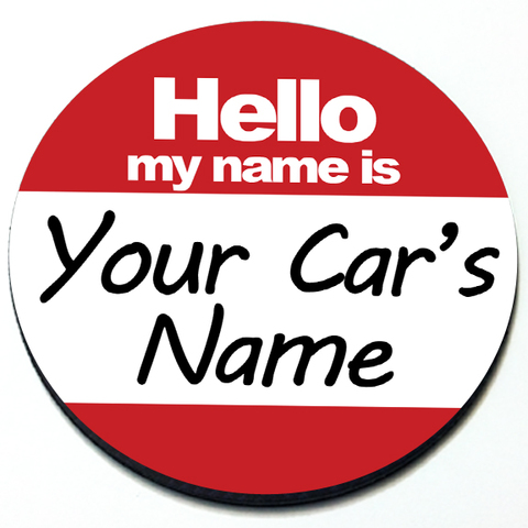 Hello My Name Is Custom - Grill Badge for MINI Cooper Product Page