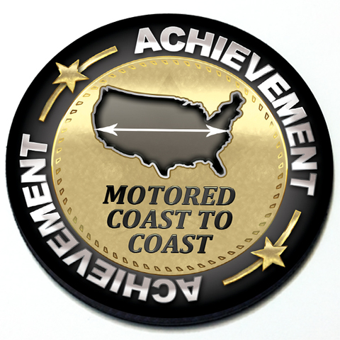Achievement Motored Coast to Coast - Grill Badge Product Page
