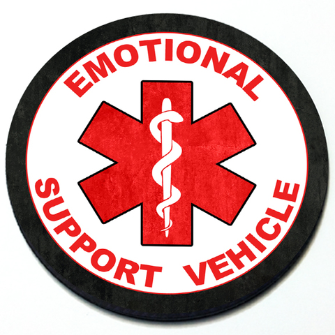Emotional Support Vehicle Grill Badge Product Page