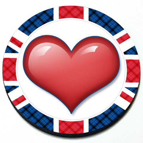 Heart - Union Jack MINI Cooper Magnetic Grill Badge Product Page
