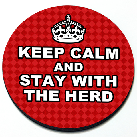 Keep Calm and Stay with the Herd - Magnetic Grill Badge for MINI Cooper Product Page