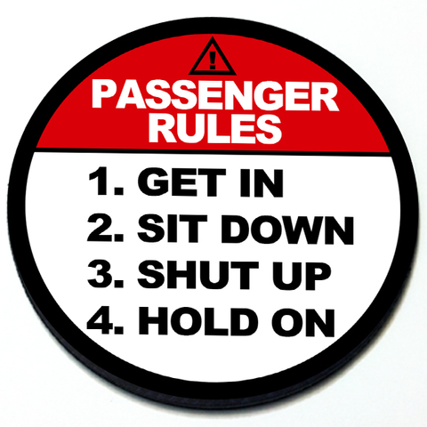 Passenger Rules - Magnetic Grill Badge for MINI Cooper Product Page