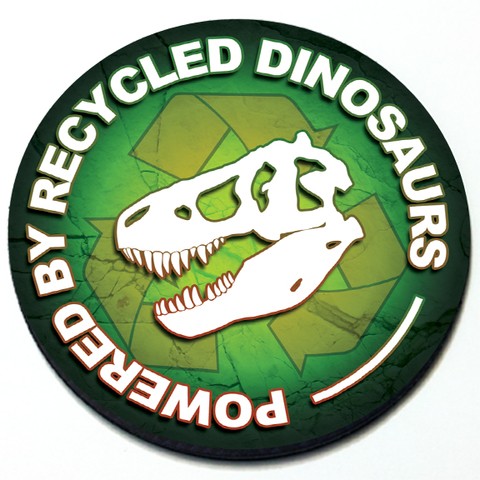 Powered by Recycled Dinosaurs - Grill Badge for MINI Cooper Product Page