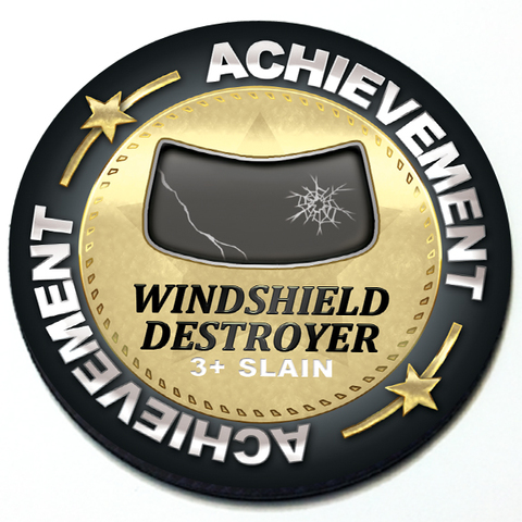 Achievement Windshield Destroyer - Grill Badge Product Page
