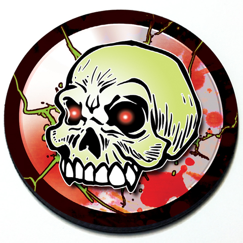 Zombie Skull Grill Badge Product Page