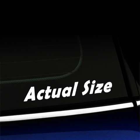 Actual Size - Vinyl Decal Product Page