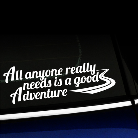 A Good Adventure - Vinyl Car Decal Product Page