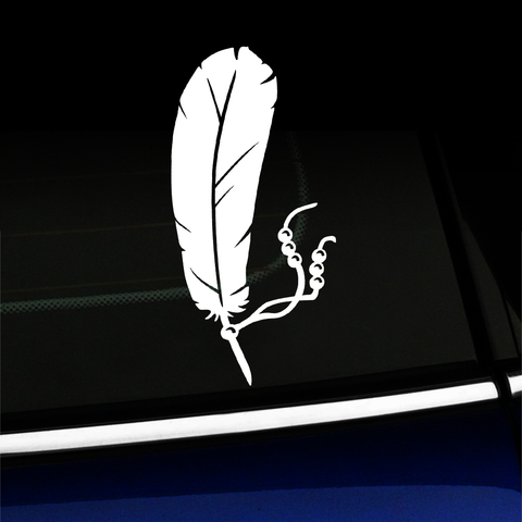 Feather and Beads - Vinyl Car Decal Product Page