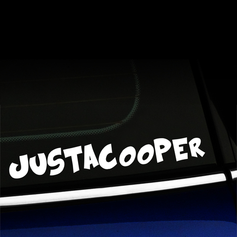 JustaCooper - Decal for MINI Cooper Product Page