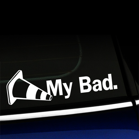 My Bad Autocross Vinyl Decal Product Page