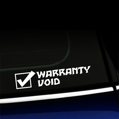 Warranty Void - Vinyl Decal Product Page
