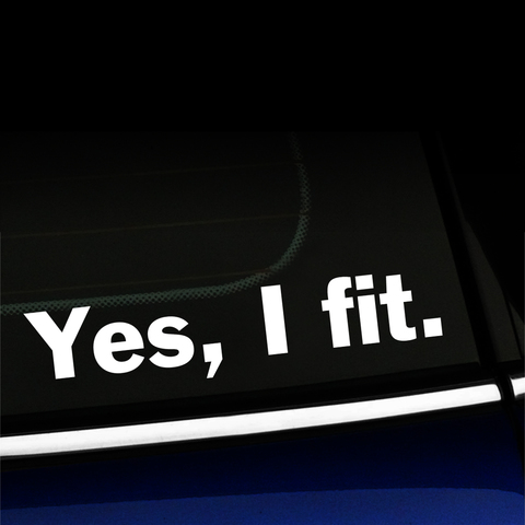 Yes, I fit - MINI Cooper Vinyl Decal Product Page