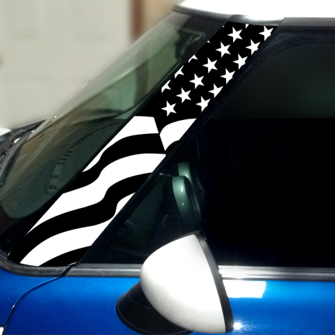 US Flag Vinyl Pillar Decals for 1st Generation MINI Cooper - Set of 2 Product Page